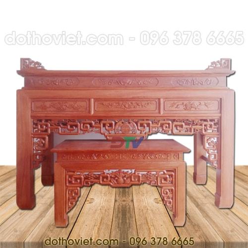 Bàn thờ 197 gỗ hương đá cao cấp