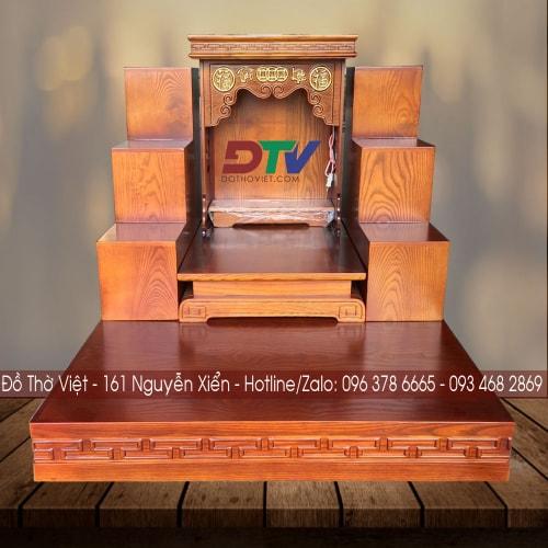 Bàn thờ thần tài thổ địa gỗ sồi cao cấp TT21