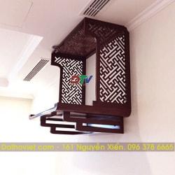 Bộ bàn thờ vách ngăn gỗ sồi treo tường