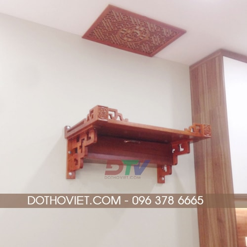 Bàn thờ treo tường gỗ hương đá TT13