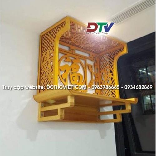 Bộ bàn thờ gỗ mít treo tường đẹp