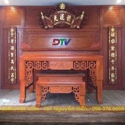 Án gian thờ gỗ gõ cho phòng thờ riêng