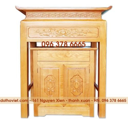 Bàn thờ chung cư gỗ sồi kích thước 107