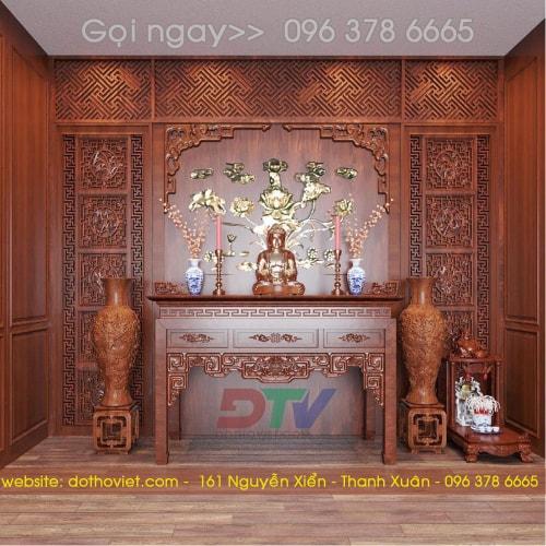 Thiết kế phòng thờ tại Hà Nội