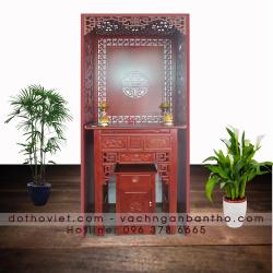 Bộ bàn thờ gỗ gõ và vách ngăn kích thước 89